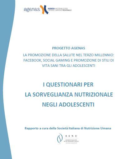"""Rapporto """"I questionari per la sorveglianza nutrizionale negli adolescenti"""""""