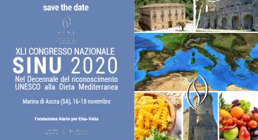 XLI Congresso Nazionale SINU 2020 - Messaggio del Presidente