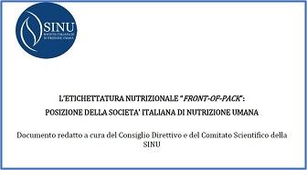 """L'etichettatura nutrizionale """"Front-of-Pack"""": posizione della Società Italiana Di Nutrizione Umana"""